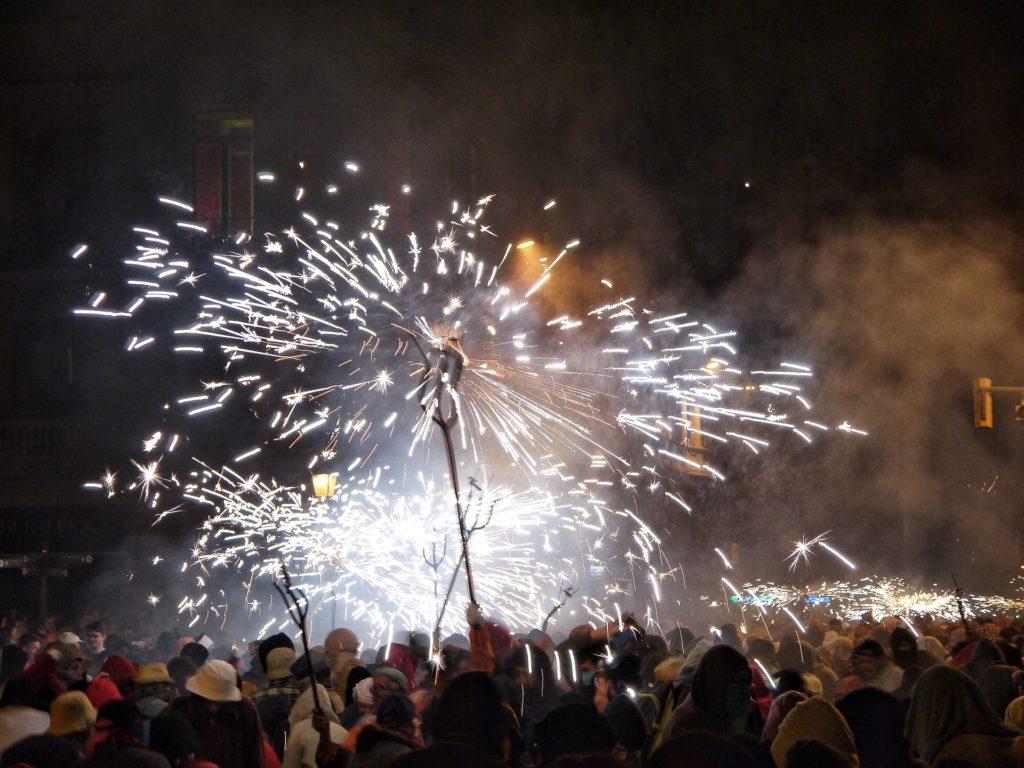 огненное шествие в Барселоне